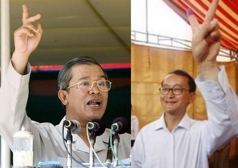 hun sen and Sam Rainsy
